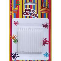 Quality White Glitter Birthday Candles (SFC0034) for sale