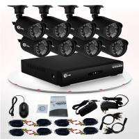 Wholesale 8 Channel CCTV DVR Kit Waterproof CCTV Camera 24 LEDs Home Security Camera Kits from china suppliers