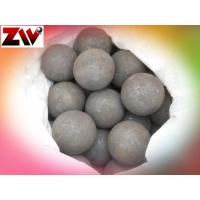 High Hardness Grinding Media Balls , Cement Plant Forged Grinding Steel Balls