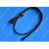 SFF 8639 To SFF 8643 Serial Attached SCSI Cable , Black SAS 68 Pin SCSI Cable