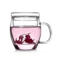 Wholesale Heat Resistant Dew Clear Glass Teapot 500ml With Large Steeper from china suppliers