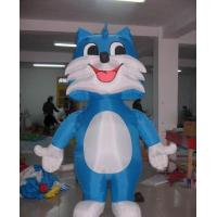 Buy cheap 2m H cute blue kitty inflatable cat for decorations, advertising from wholesalers