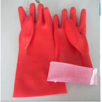 Wholesale PVC gloves,Full pvc dipped gloves,Open cuff, T/C lining,red color,size 14''and 18'' from china suppliers