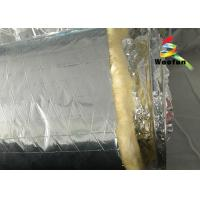 Air Conditioning Aluminium Fire Retardant Flexible Round Duct Insulation Wrap Lightweight Yellow Cotton