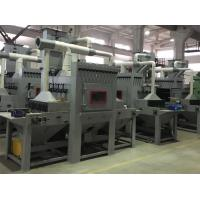 Wholesale Automatic Dustless Sandblasting Machine Long Multi station / Transmission sandblast cabinet with dust collector from china suppliers