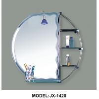 China Gllass Beveled Bathroom Mirror, Etched Bath Mirror on sale