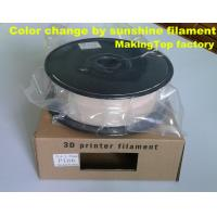 Wholesale 6 colors change by sunshine 1.75mm&3mm PLA filament from china suppliers