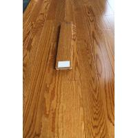 China Red oak solid hardwood flooring, smooth surface with color butter rum on sale