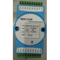 Wholesale 4-20ma to 4-20ma current isolation splitter WAYJUN 3000VDC  one in two out signal transmitter green DIN35 CE approved from china suppliers