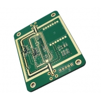 China Castellated Edges Matte/Photoimageable Green PCB 1.55mm Thickness for RF Products on sale