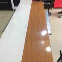 Wholesale 25cm Decorative Plastic Wall Panels , Wood Interior Wall Paneling Excellent Insulation from china suppliers
