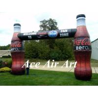 Wholesale custom printed advertising door arch inflatable bottle arch for promotion from china suppliers