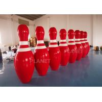 Wholesale OEM Red  2m Tall Giant Blow Up Bowling Pins For Snow Sport Game from china suppliers