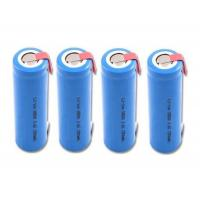 Wholesale Cylindrical Custom Battery Packs / 18650 3.7 V Battery 1300mah With Tab , Blue PVC Wrap from china suppliers
