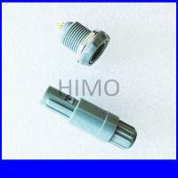 double key 6 pin lemo self-latching plastic connector