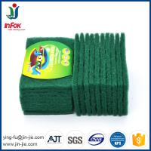 Best INFOK heavy duty abrasive nylon green kitchen cleaning scouring pads wholesale