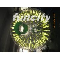 Green color Giant Inflatable Zorb Ball 1.0 MM PVC material for Entertainment