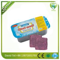 Wholesale steel wool soap filled scrubber factory price from china suppliers