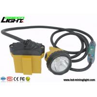 China Explosion Proof  IP 68 LED Mining Lamp with Security Cable Light , 28000 Lux Miners Cap Lamp on sale