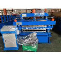 China Corrugated Double Layer Roofing Sheet Roll Forming Machine With No Noise for sale