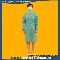Wholesale Medical Green Disposable Isolation Gowns Non Woven SMS Tie Back Alkali Proof from china suppliers