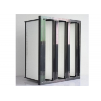 Wholesale Compact V Cell H14 HEPA Air Purifier ABS Frame For Air Filtration System from china suppliers