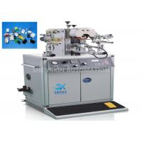 Oval Shape Caps Hot Foiling Machine , Semi - Auto Heat Stamping Machine for sale