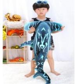 Stuffed toys Fish 10'' long, Plush toys,Toy sea animals,lovely Toy Gift for aquarium