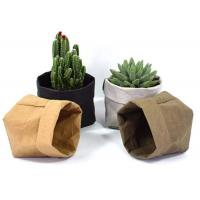 Wholesale Recycled Kraft Paper Storage Bags Grocery Toys Washable Paper Storage Bags from china suppliers