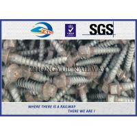 Oxide Black 4.6 Grade Railway Ss Series Sleeper Screw Spike With 35# Steel Material for sale