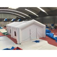 China Adult Big White Inflatable Shelter Tent , Durable Inflatable Camping Shelter on sale