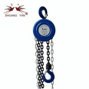 China CE GS certifi. Round Blue Cheap Manual Chain Block 1Ton on sale