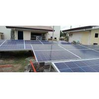 China Durable Solar PV System Ground Mounting System Glavanized Mg - All Alloy Steel Material for sale