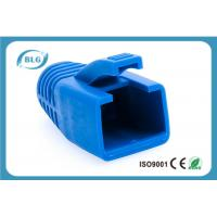China Blue Rubber Network Cable Accessories RJ45 Plug Boot For Cat7 Patch Cable on sale