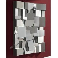 Decorative Faceted Wall Mirror , 80 * 110cm Size 3D Living Room Wall Mirror for sale