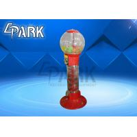 China Red And Yellow Capsule Toy Vending Machine / Coin Operated Game Gumball Machine for sale