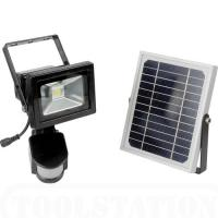 Wholesale PIR Motion Sensor 10W Solar LED Flood lights 950Lm DC 12V 6600mAh 140 degree from china suppliers