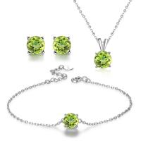 Buy cheap 925 Silver Natural Stone Jewelry Set Women's Chain Necklace Bracelet Earrings from wholesalers