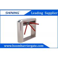600mm Width Motorized Subway Turnstile Gate , Intelligent Lifting Barrier Gate