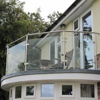 Quality China high quality 10mm deck tempered glass railings suppliers for sale