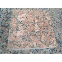 Nature Granite Stone Tiles Polished Finishing Solid Surface Red Color for sale