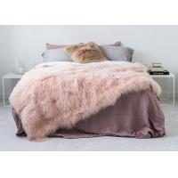 Genuine Tibetan Sheepskin Throw For Queen Size Bed, Soft Sheepskin Fur Blanket