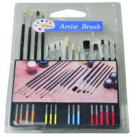 Slim Long Handled Paint Brushes , Personalised Paint Brush Set T With Plastic Palette