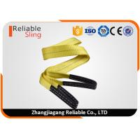 Best Yellow Polyester Single Ply Flat Eye Sling Webbing Sling for Lifting Loads wholesale