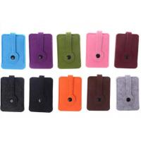 Wholesale Unisex Car Key Wallet Purse Felt Key Chain Bags 43 Colors With 3mm Thickness from china suppliers