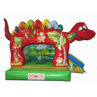 China Cute classic inflatable dinosaur combo / small dino inflatable combo inflatable dinosaur jumping combo small size bouncy for sale