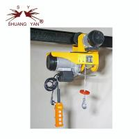 China 250kg 500kg Mini Electric Cable Hoist Trolley Hand Pushed Power Source on sale