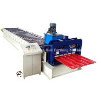 Buy cheap PPGi GI Metal Roofing Sheet Roll Forming Machine Double Layer 45# Steel Roller from wholesalers