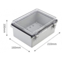 Wholesale 210x160x100mm IP65 ABS Plastic Enclosure With Hinged Cover from china suppliers