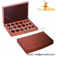 China Wood Coin Display Case, With Velvet Interiro, Stamped Logo, Professional Manufacturer for sale
